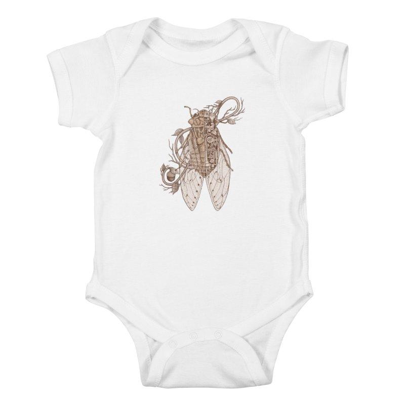 anatomy of cicada Kids Baby Bodysuit by makapa's Artist Shop