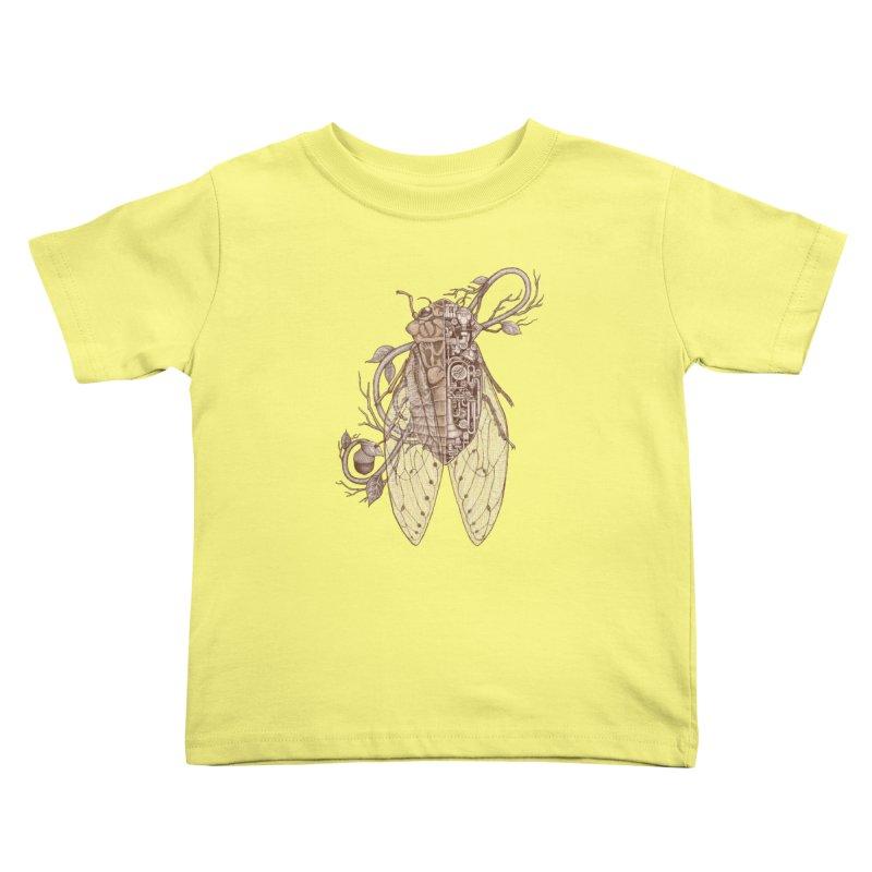 anatomy of cicada Kids Toddler T-Shirt by makapa's Artist Shop