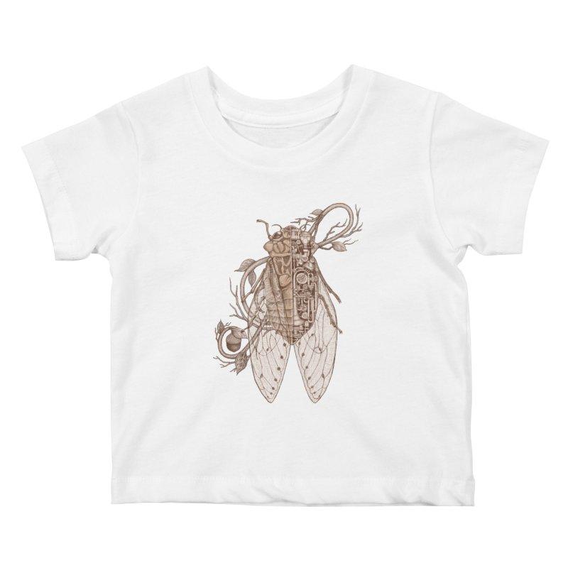 anatomy of cicada Kids Baby T-Shirt by makapa's Artist Shop