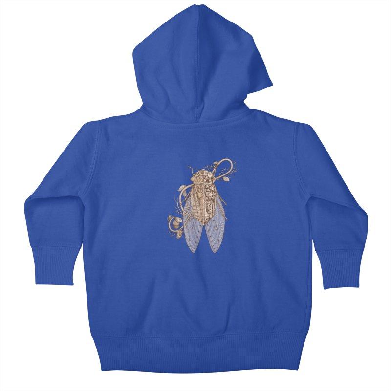 anatomy of cicada Kids Baby Zip-Up Hoody by makapa's Artist Shop
