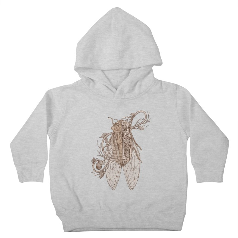 anatomy of cicada Kids Toddler Pullover Hoody by makapa's Artist Shop