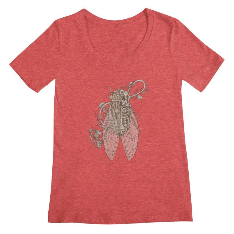 anatomy of cicada Women's Scoopneck by makapa's Artist Shop