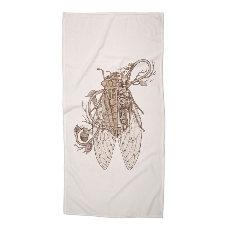 anatomy of cicada Accessories Beach Towel by makapa's Artist Shop