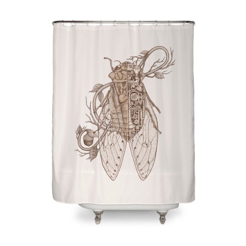 anatomy of cicada Home Shower Curtain by makapa's Artist Shop