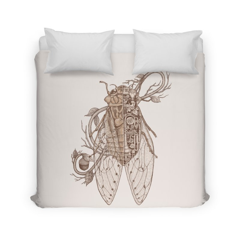 anatomy of cicada Home Duvet by makapa's Artist Shop