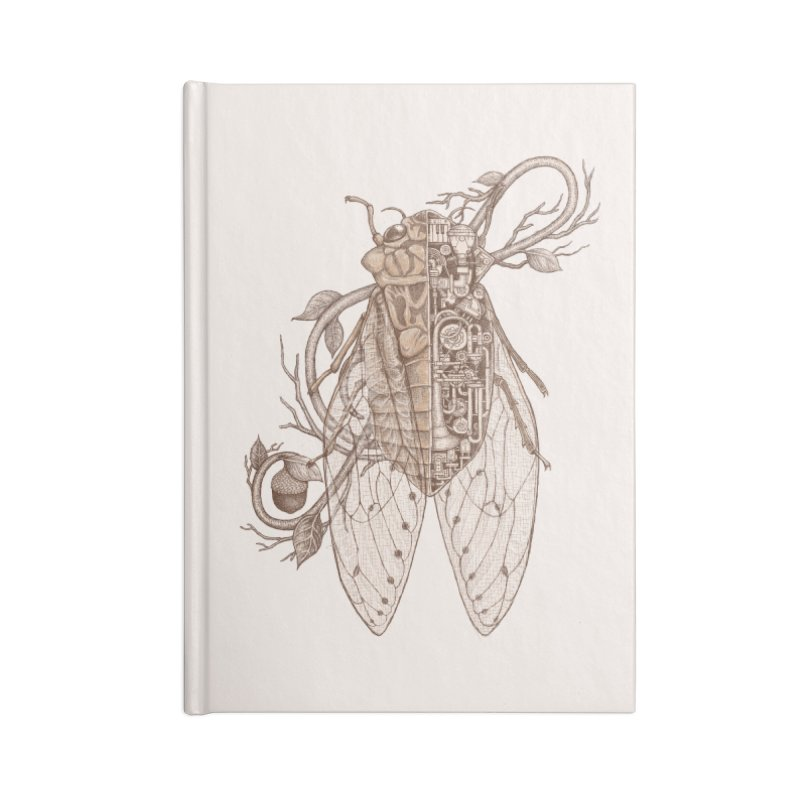 anatomy of cicada Accessories Notebook by makapa's Artist Shop