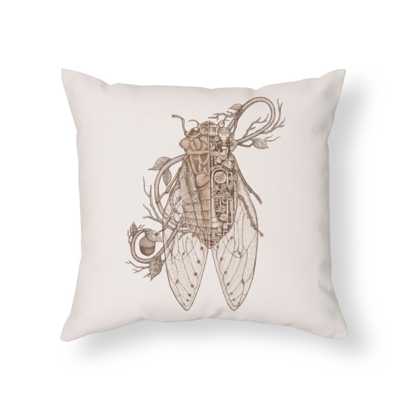anatomy of cicada Home Throw Pillow by makapa's Artist Shop