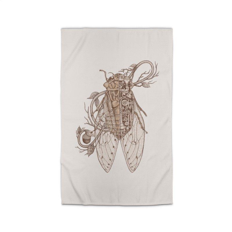 anatomy of cicada Home Rug by makapa's Artist Shop