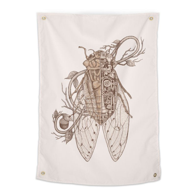 anatomy of cicada Home Tapestry by makapa's Artist Shop