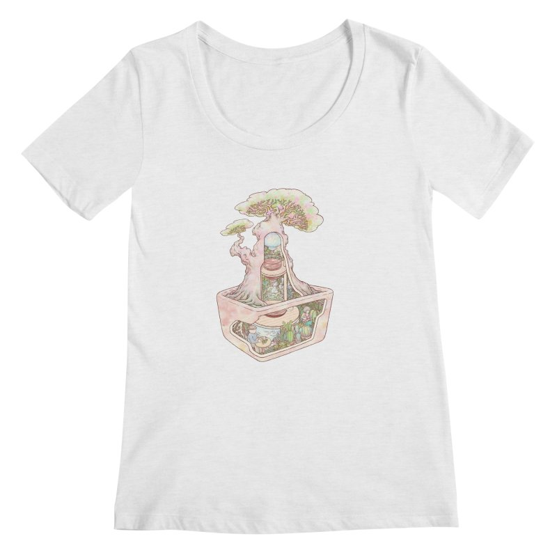 taste of slow Women's Regular Scoop Neck by makapa's Artist Shop