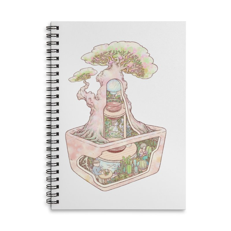 taste of slow Accessories Lined Spiral Notebook by makapa's Artist Shop