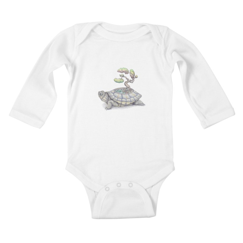 imagine time Kids Baby Longsleeve Bodysuit by makapa's Artist Shop