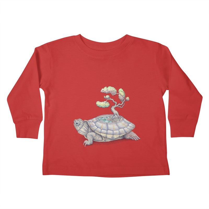 imagine time Kids Toddler Longsleeve T-Shirt by makapa's Artist Shop