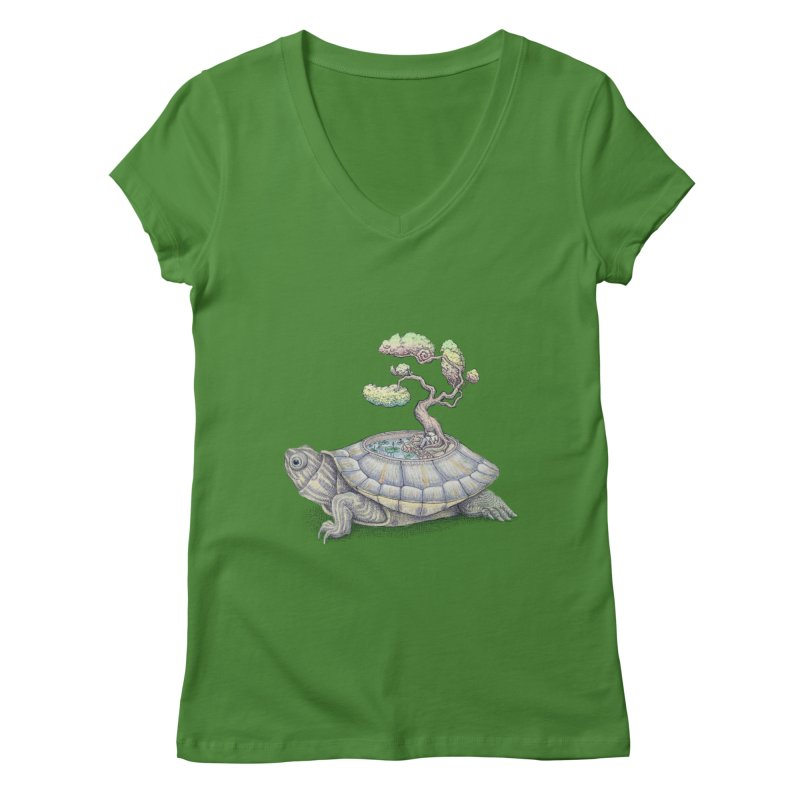 imagine time Women's V-Neck by makapa's Artist Shop