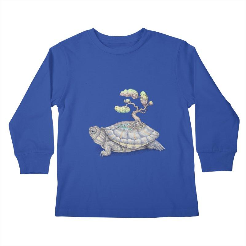 imagine time Kids Longsleeve T-Shirt by makapa's Artist Shop