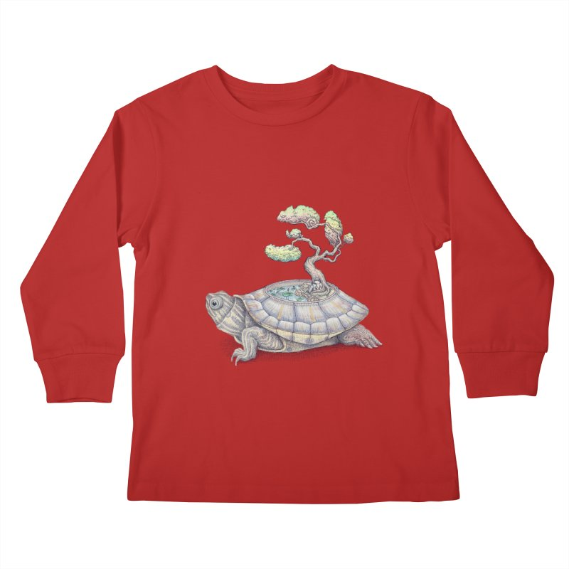 imagine time Kids Longsleeve T-Shirt by makapa's Artist Shop