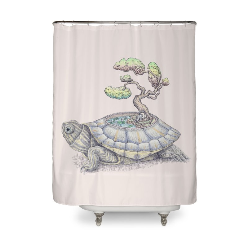 imagine time Home Shower Curtain by makapa's Artist Shop