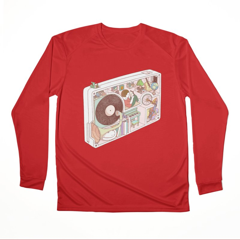 inside analog Men's Performance Longsleeve T-Shirt by makapa's Artist Shop