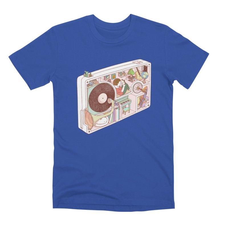 inside analog Men's Premium T-Shirt by makapa's Artist Shop