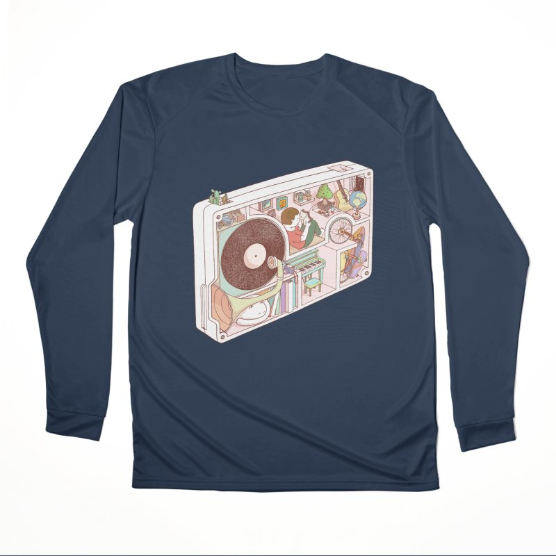 inside analog Women's Performance Unisex Longsleeve T-Shirt by makapa's Artist Shop