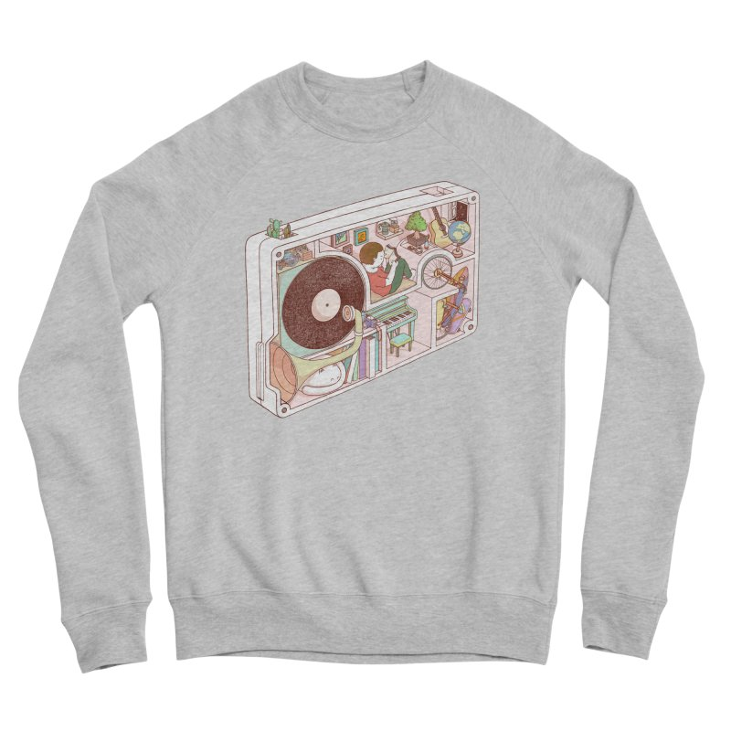 inside analog Women's Sponge Fleece Sweatshirt by makapa's Artist Shop