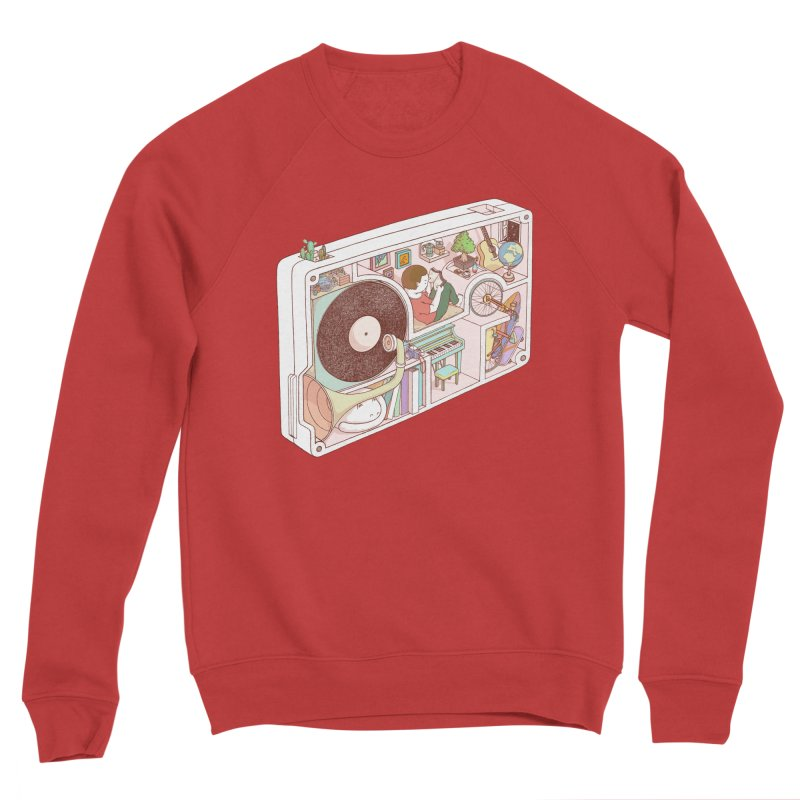 inside analog Men's Sponge Fleece Sweatshirt by makapa's Artist Shop