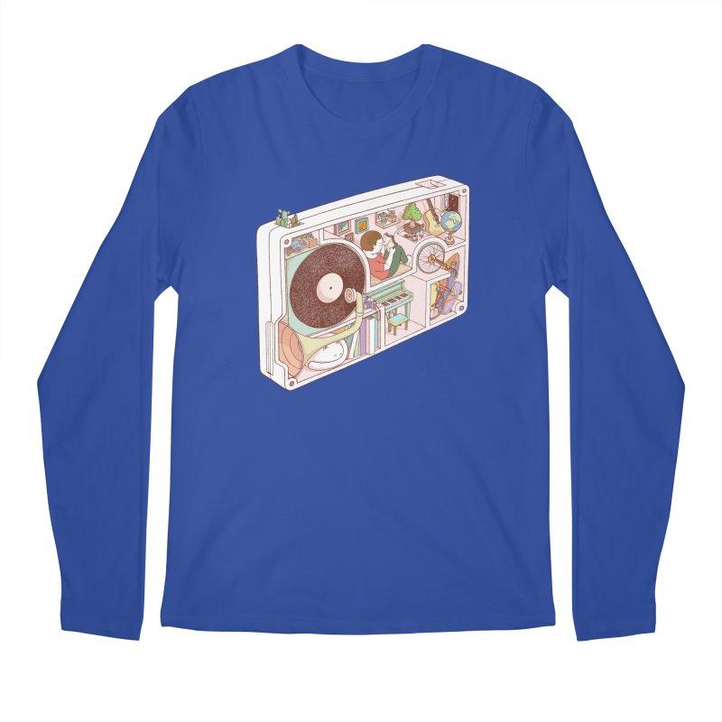 inside analog Men's Regular Longsleeve T-Shirt by makapa's Artist Shop