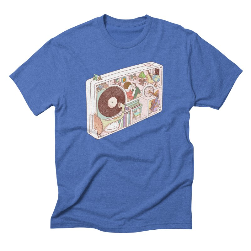 inside analog Men's Triblend T-Shirt by makapa's Artist Shop