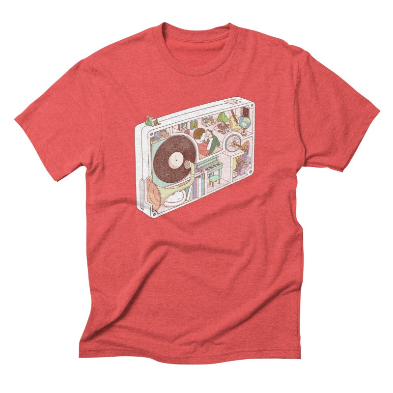 inside analog Men's Triblend T-Shirt by makapa's Artist Shop