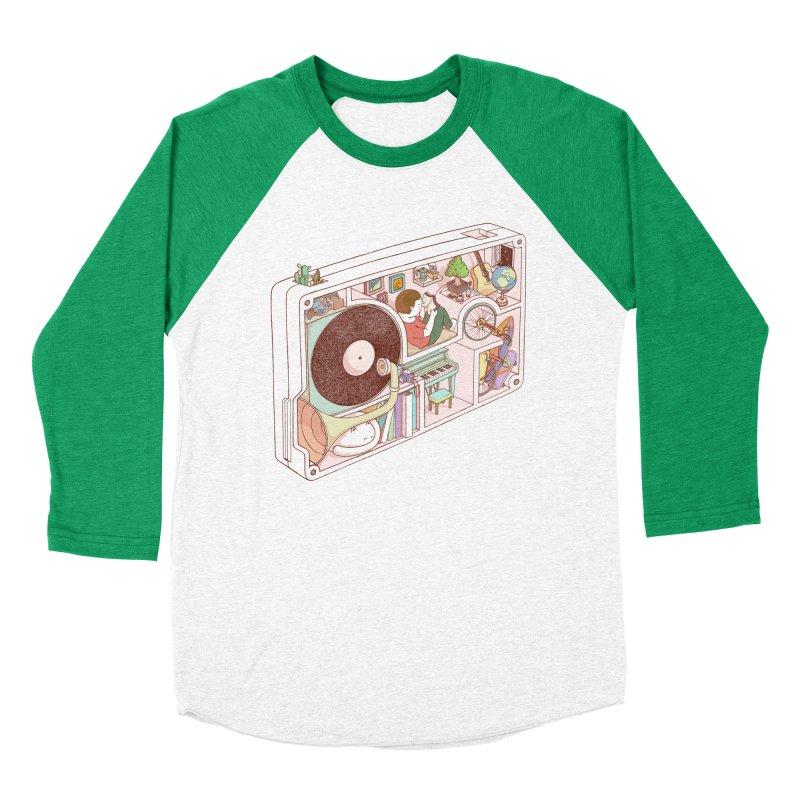 inside analog Women's Baseball Triblend Longsleeve T-Shirt by makapa's Artist Shop