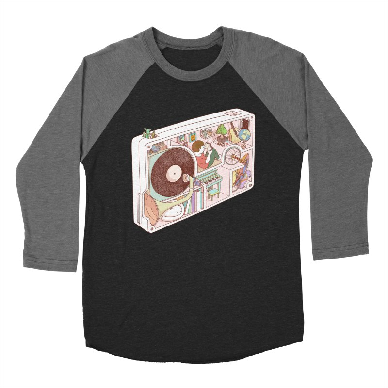 inside analog Women's Baseball Triblend Longsleeve T-Shirt by makapa's Artist Shop