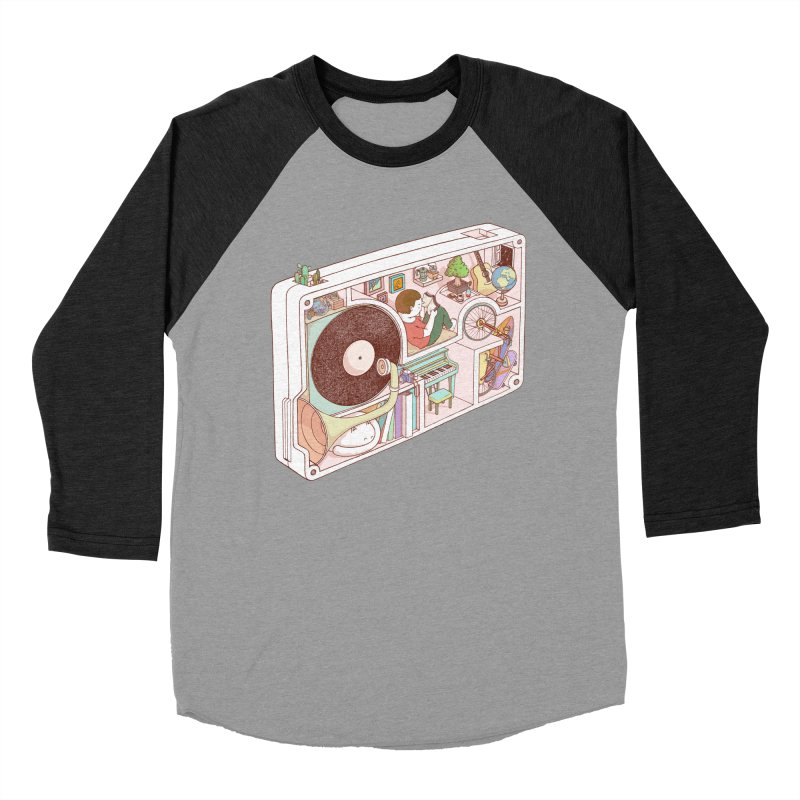 inside analog Men's Baseball Triblend Longsleeve T-Shirt by makapa's Artist Shop