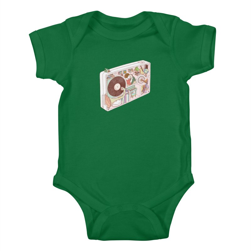 inside analog Kids Baby Bodysuit by makapa's Artist Shop