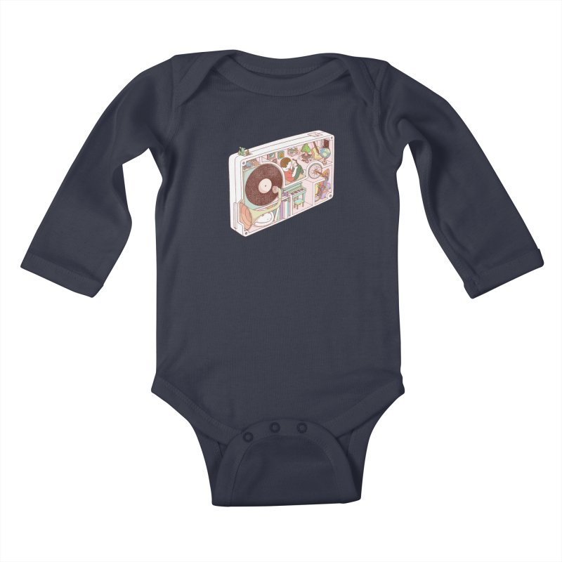 inside analog Kids Baby Longsleeve Bodysuit by makapa's Artist Shop