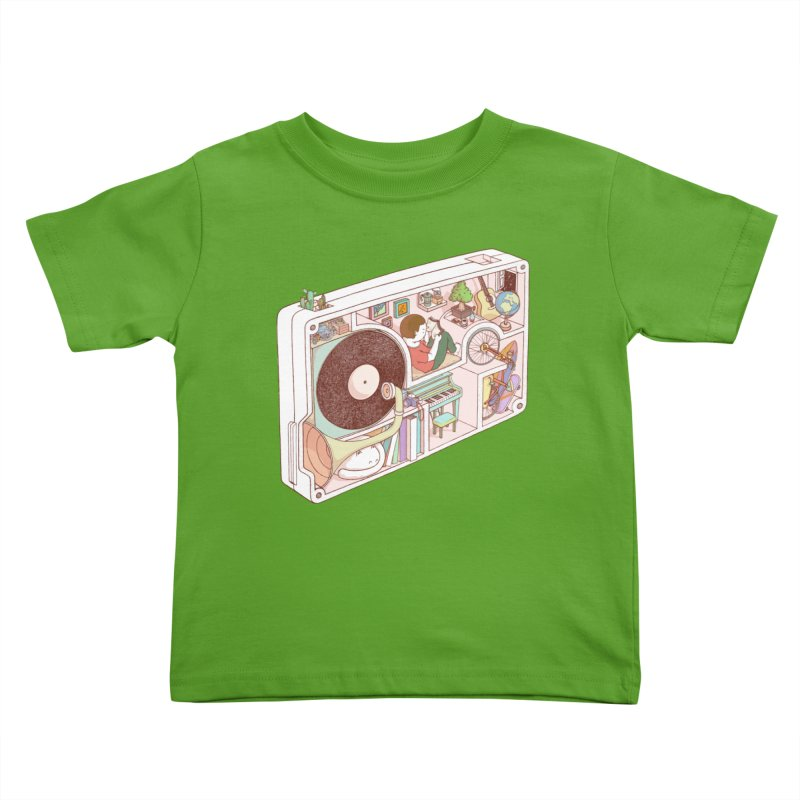 inside analog Kids Toddler T-Shirt by makapa's Artist Shop
