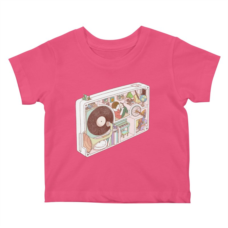 inside analog Kids Baby T-Shirt by makapa's Artist Shop