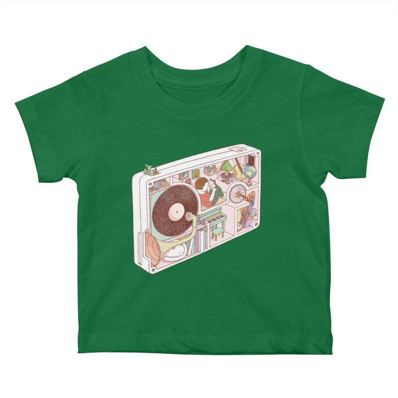 inside analog Kids Baby T-Shirt by makapa's Artist Shop