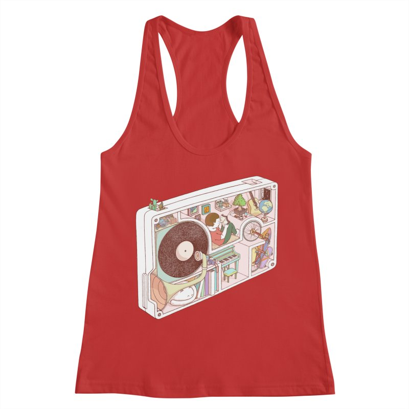 inside analog Women's Racerback Tank by makapa's Artist Shop