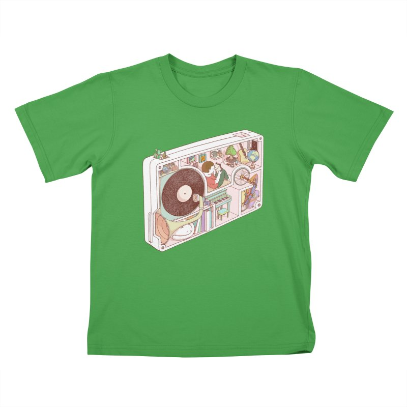 inside analog Kids T-Shirt by makapa's Artist Shop
