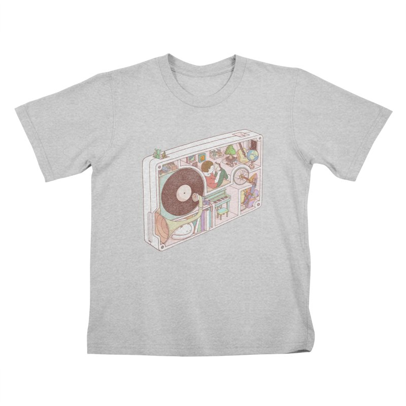 inside analog Kids T-Shirt by makapa's Artist Shop