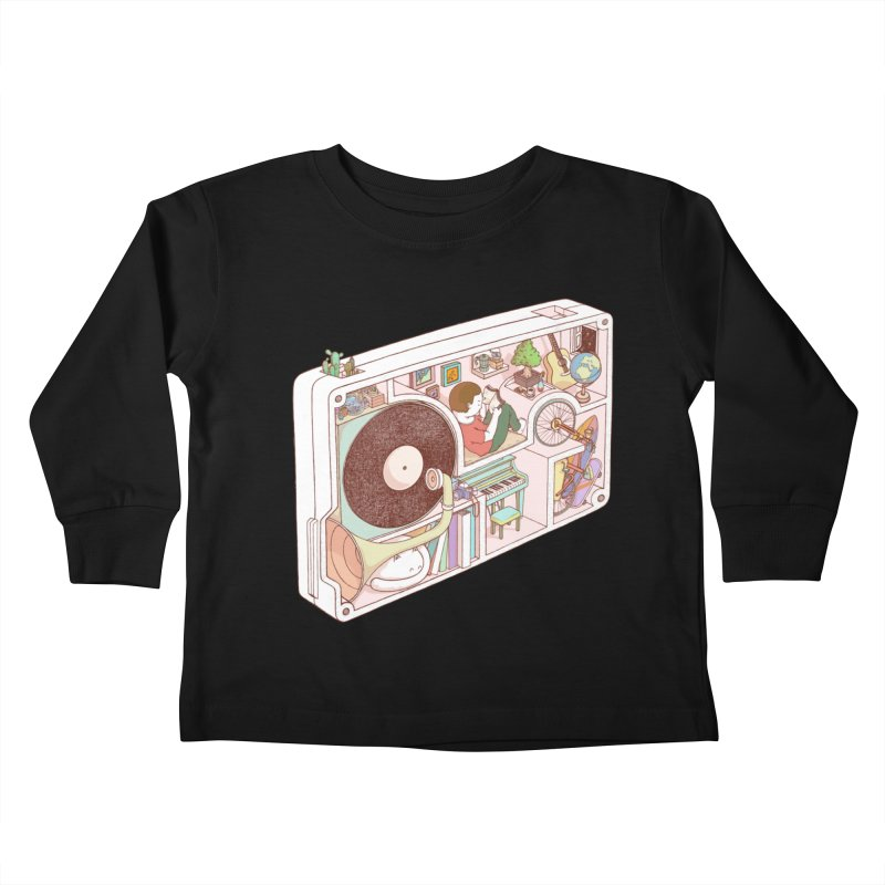 inside analog Kids Toddler Longsleeve T-Shirt by makapa's Artist Shop