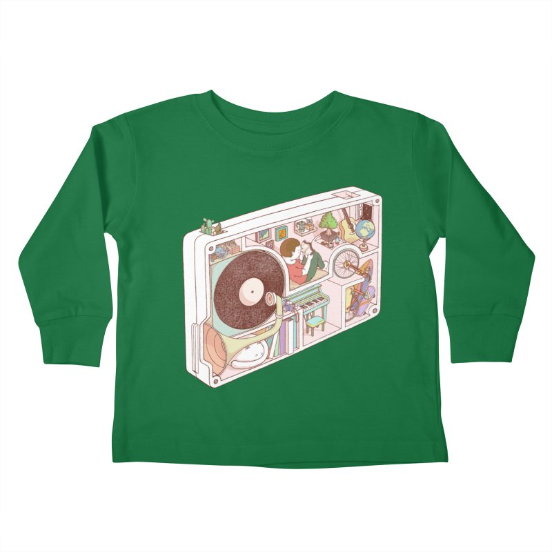 inside analog Kids Toddler Longsleeve T-Shirt by makapa's Artist Shop