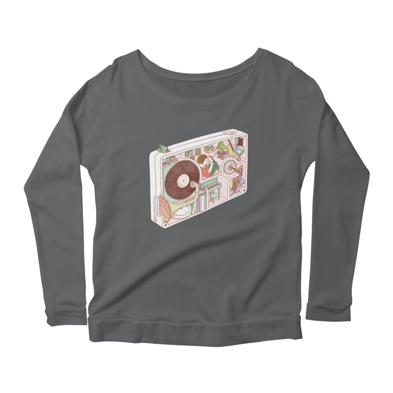 inside analog Women's Scoop Neck Longsleeve T-Shirt by makapa's Artist Shop