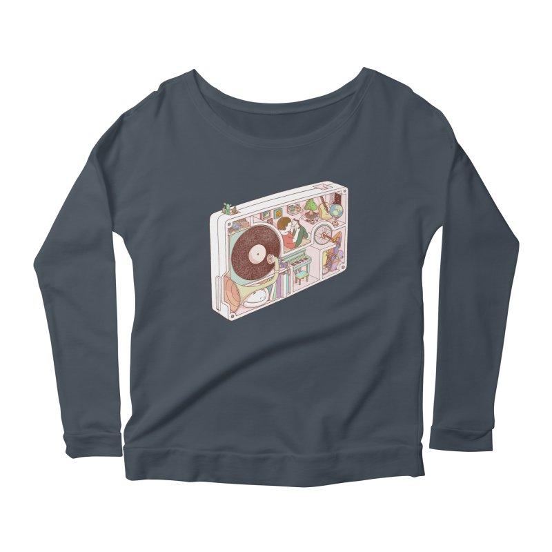 inside analog Women's Scoop Neck Longsleeve T-Shirt by makapa's Artist Shop