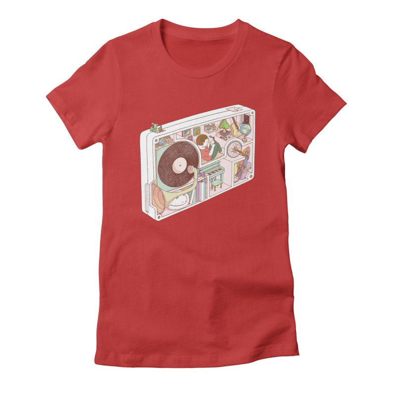 inside analog Women's Fitted T-Shirt by makapa's Artist Shop