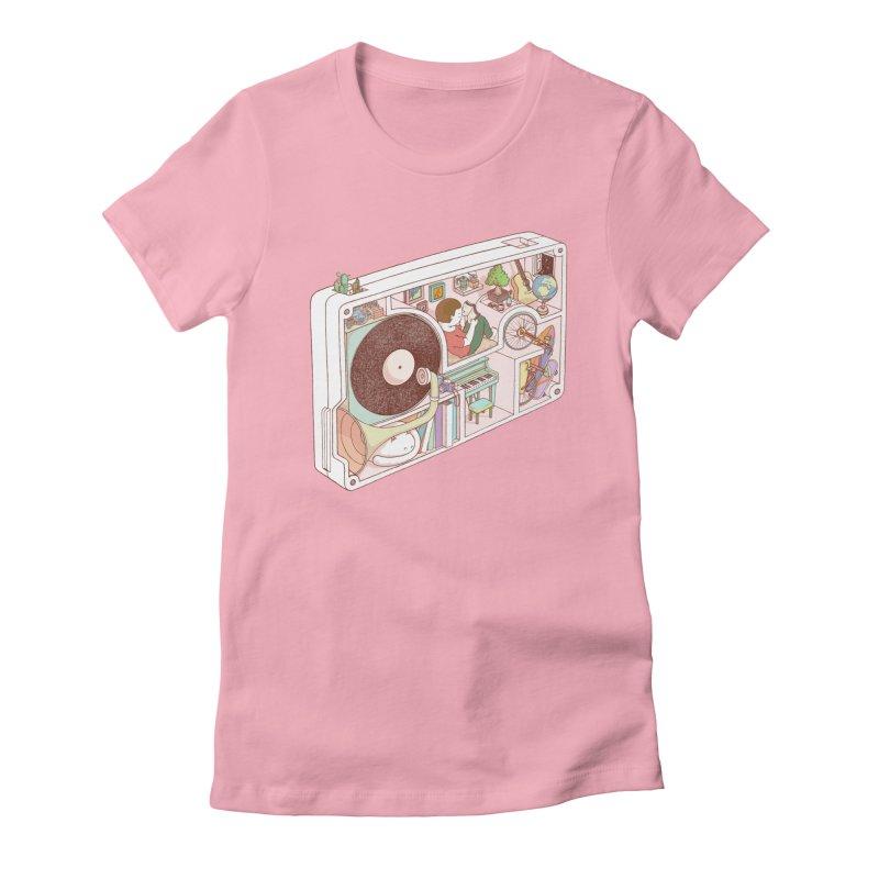 inside analog Women's Fitted T-Shirt by makapa's Artist Shop
