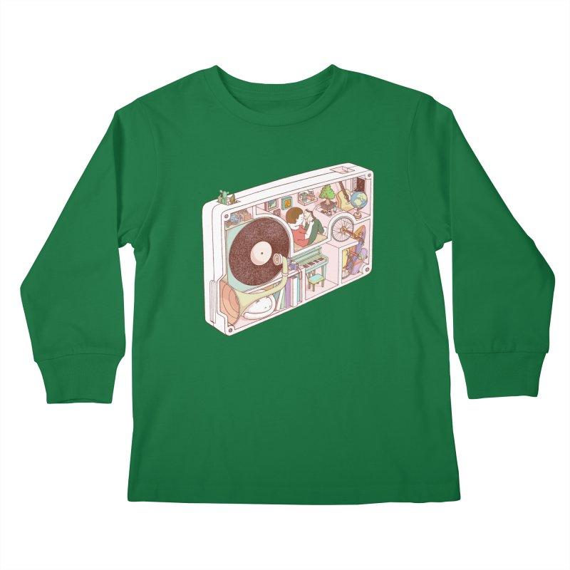 inside analog Kids Longsleeve T-Shirt by makapa's Artist Shop