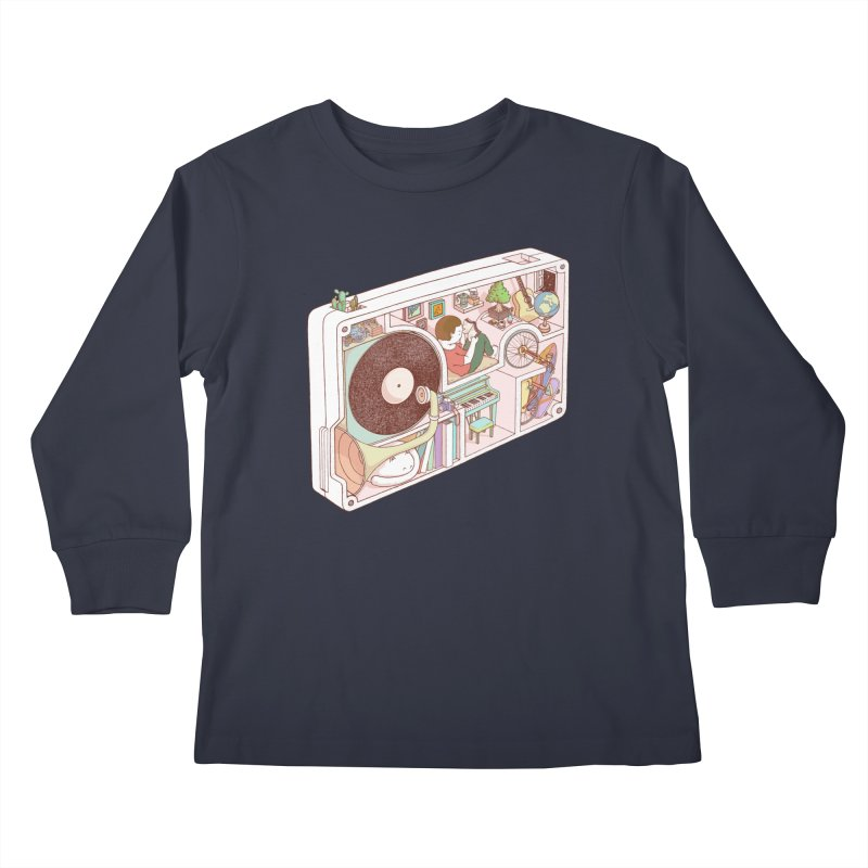 inside analog Kids Longsleeve T-Shirt by makapa's Artist Shop
