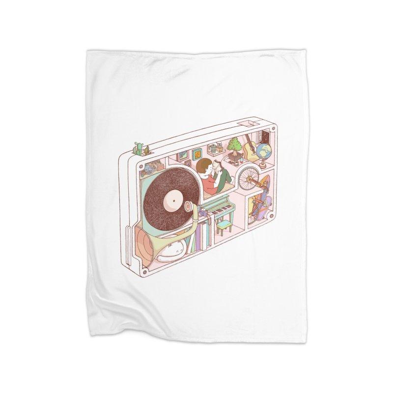 inside analog Home Fleece Blanket Blanket by makapa's Artist Shop