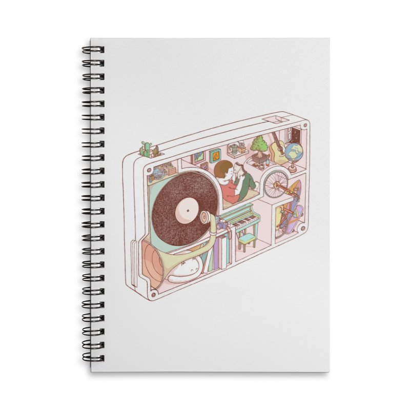 inside analog Accessories Lined Spiral Notebook by makapa's Artist Shop